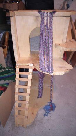 Domek dla kota, drewniany