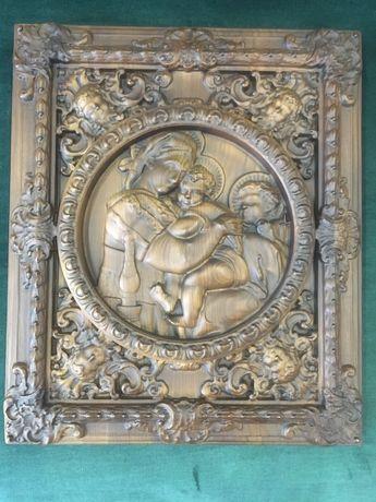 Продам деревянную икону ручной работы, чудотворной Богородицы,