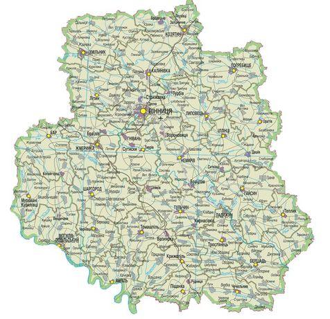 Археологические карты Винницкой области!