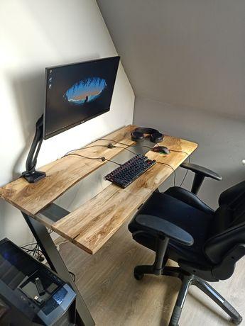 Biurko z żywicą epoksydową/ Stół z żywicą epoksydową