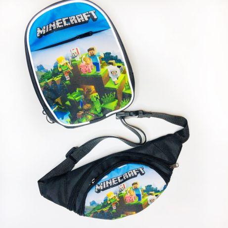 Набір Майнкрафт Minecraft: міні-рюкзачок + бананка (рюкзак дитячий)
