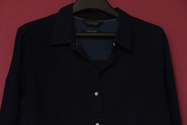 Scotch & Soda рр M (S бирка) рубашка из хлопка и льна нутуральный инди