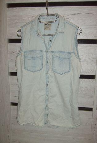 długa bluzka jeansowa M