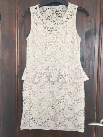 Sukienka z baskinką śliczna i wygodna S