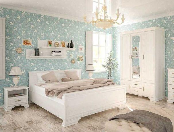 В наличии ! Белая Спальня Ирис Мебель Сервис Шкаф тумбы кровать