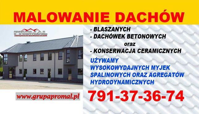 Malowanie Dachów, Blachodachówki, Dachówek betonowych, farby PREMIUM!