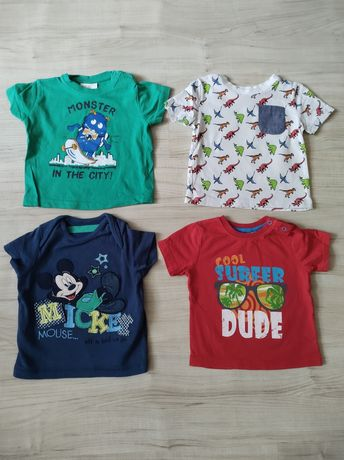 Koszulki, chłopiec, rozmiar 74