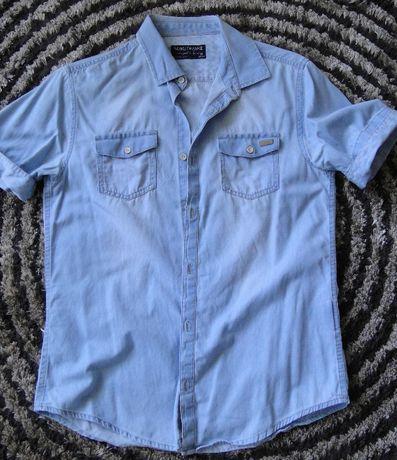 Koszula chłopięca jeans krótki rękaw Mayoral NUKUTAVAKE roz. 158