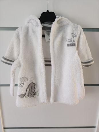 Biały szlafrok niemowlęcy 56