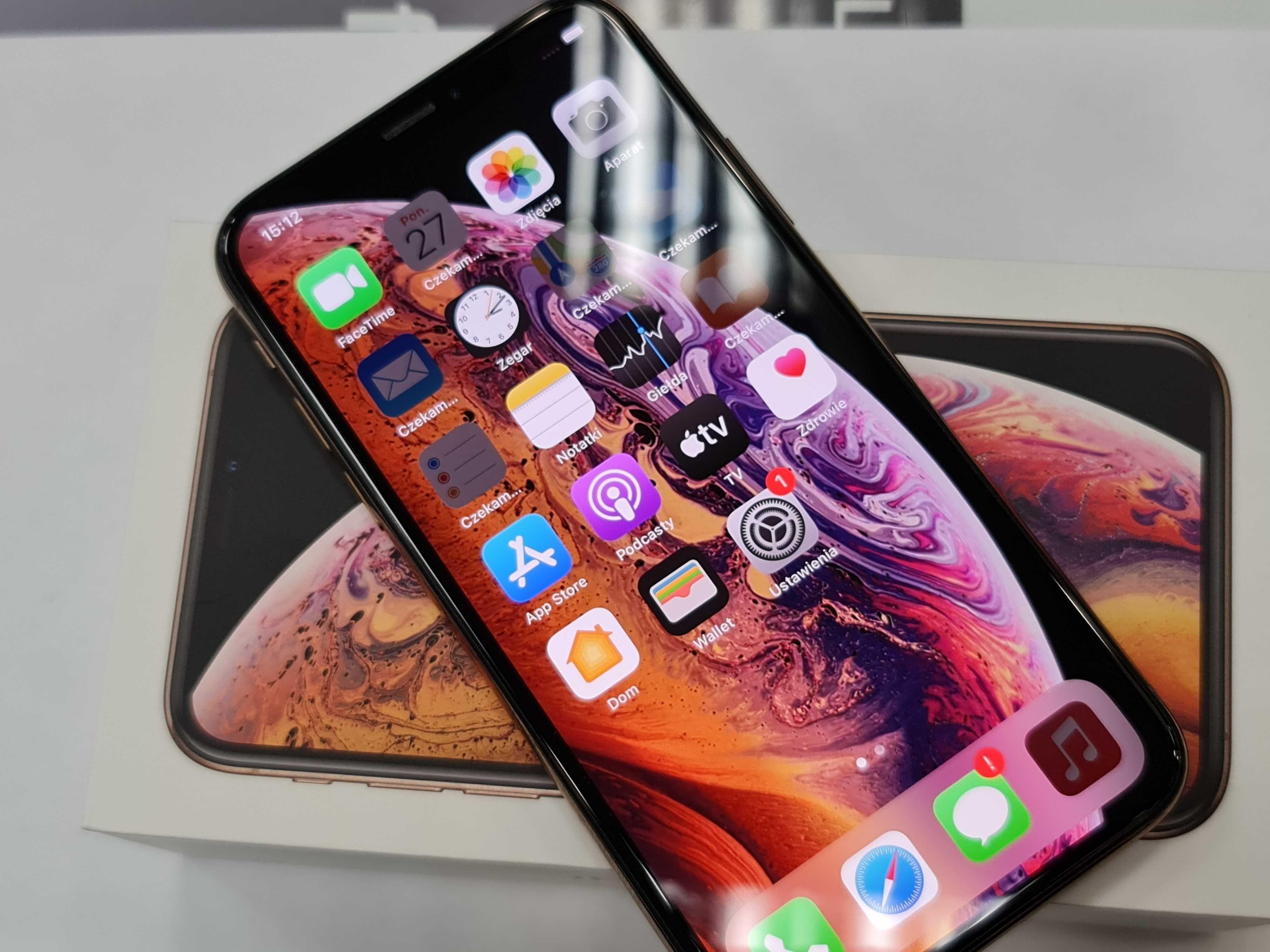 Iphone XS 64GB/ Gold/ Złoty/ 100% sprawny/ BDB/ Bateria 82%/ Gwarancja