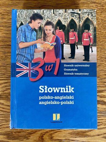 Słownik 3 w 1 polsko-angielski, angielsko-polski