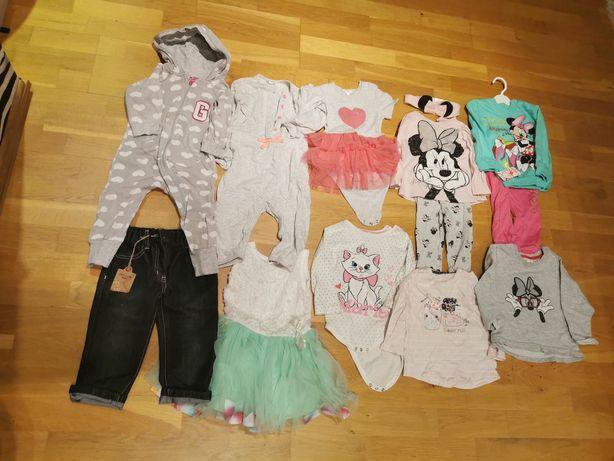 Ubrania 86, body, sukienka, zestaw, rampers