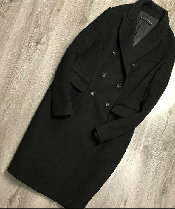 Пальто жіноче чорного кольору, Zara Киев - изображение 1