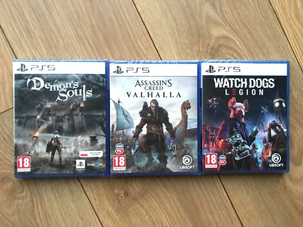 Gry PS5: Demon's Soul, Assassins Creed Valhalla i Watch Dogs Legion