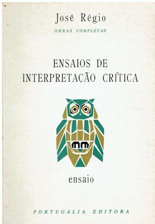 6860 Ensaios de interpretação crítica de José Régio 1a edição, 1964