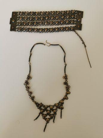 Biżuteria metalowa - naszyjnik i bransoletka
