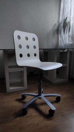Krzesło białe obrotowe fotel Ikea