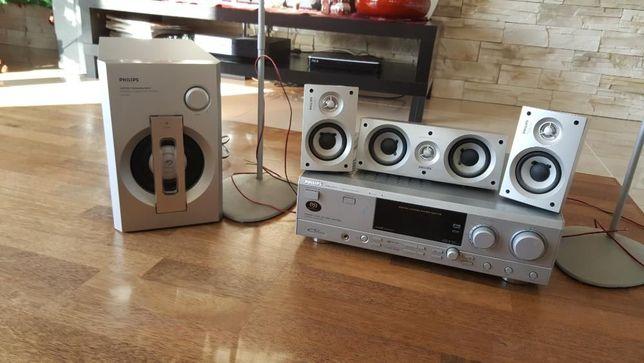 Kino domowe Philips: Amplituner FR984 + aktywny SUBWOOFER+ 5 głośników