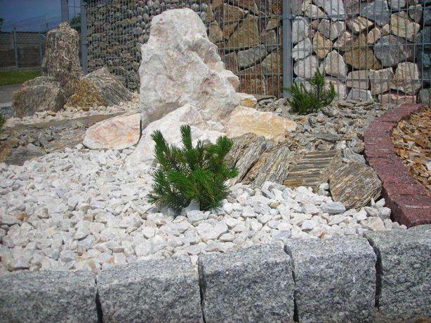 Kalcyt grys bałkański biały kamień kostka granitowa brukowa palisada