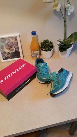 Adidas / adidasy Dunlop 39 turkusowe idealne do biegania, na fitness