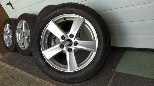 Koła aluminiowe ALUTEC 16'' 5x112 opony zimowe 205/55/16 AUDI SKODA VW