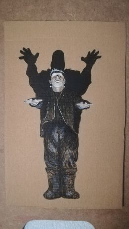 Frankenstein desenho a pastel e tinta-da-china sobre cartolina 24,2x15