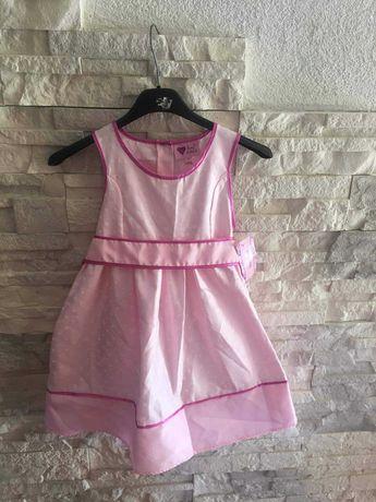Sukienka elegancka różowa grochy Rozmiar 122 , 5-6lat