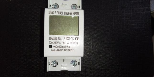 Licznik jednofazowy podlicznik energii prądu.