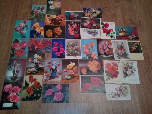 Открытки цветы винтаж