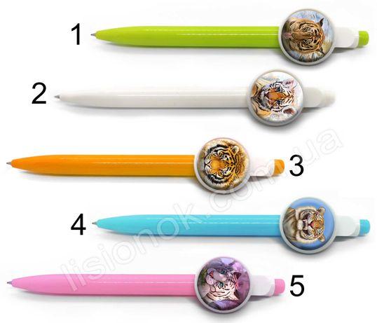 Шариковая ручка Тигр, яркая и стильная, символ 2022 года, синяя паста