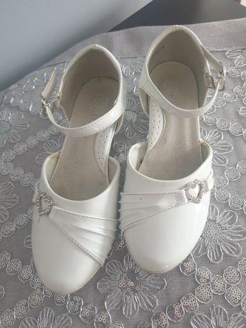 Buty półbuty białe rozm.32 komunia