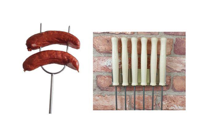 WP-5/130 kijki kije widełki do ogniska nierdzewne komplet 6 szt uchwyt