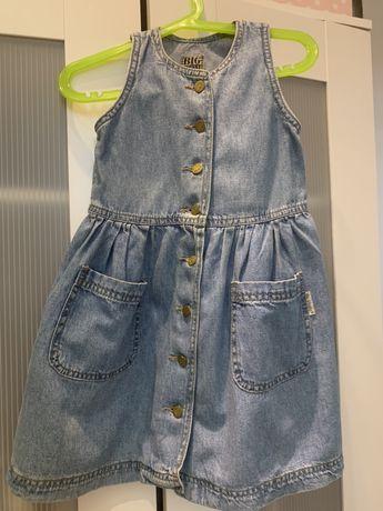Sukienka dziecieca jeansowa