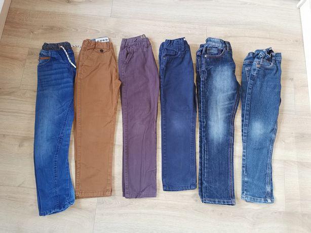 Spodnie jeansy chino 6-7lat 122cm 6par