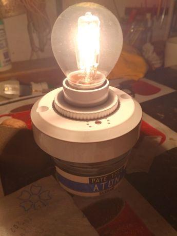 Держатель лампы с датчиком звука и света, голосовое управление, цоколь