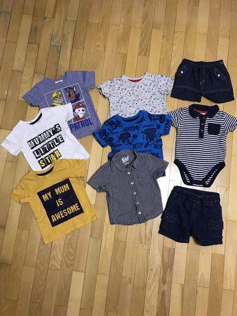 Футболка,шорти,літній одяг,Пакет одягу на 9-12 міс