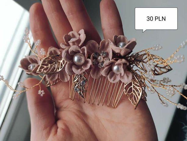 dekoracje weselne  Ozdoby weslene ozdobry ślubne spinka grzebień