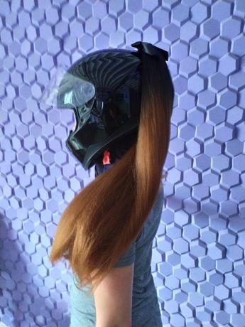 Хвост на шлем Коса на мото шлем Косичк для шлема
