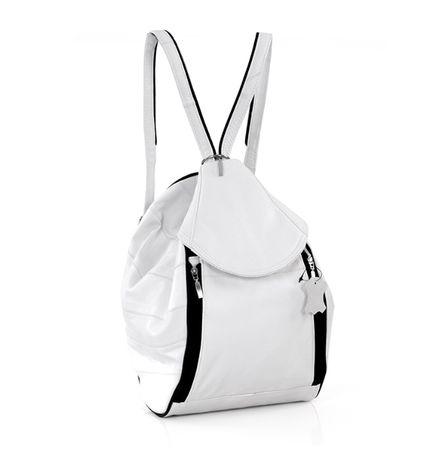Plecak skórzany biały
