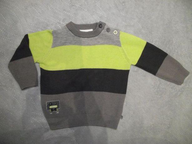 Sweter niemowlęcy chłopięcy rozmiar 68/74