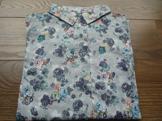 TAM.7/8 (128cm) - Camisa cinza florida ZIPPY
