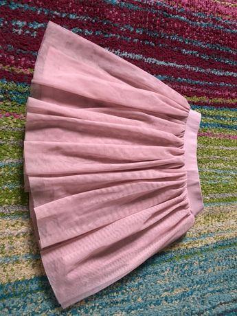 Spodniczka tiulowa, rozowa , Manufaktura Falbanek, rozm 92/98