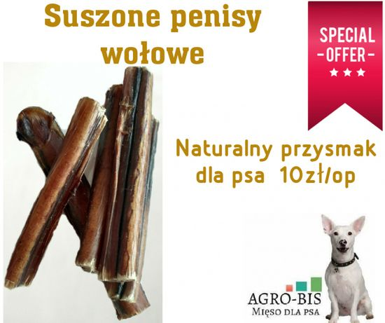 Przysmak dla psa Penisy wolowe Super cena