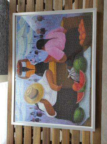 Quadro com puzzle de 1000 peças