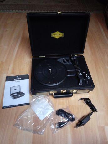 Peggy Sue Gramofon głośniki stereo złącze USB kolor brązowy