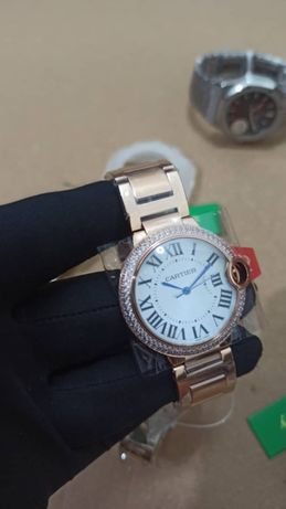 Relogio Catier diamond mulher 36mm Rose gold novo