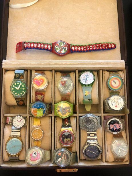 Colecção de 40 relógios swatch