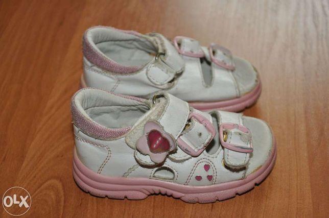 Sandałki dziewczęce rozm. 20 skórzane firmy Gufo