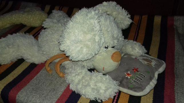 мягкая игрушка(леопард, заец, жираф.утка.собака,карлсон, медведь, пи