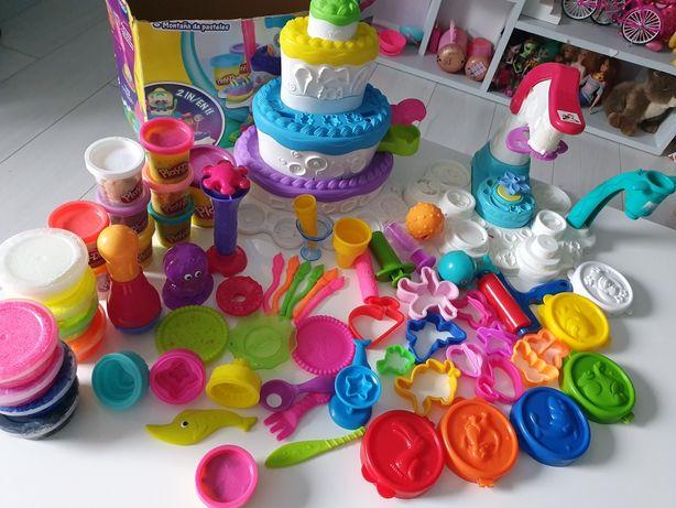 Play Doh lodziarnia , tort i inne zestawy , 70 elementów